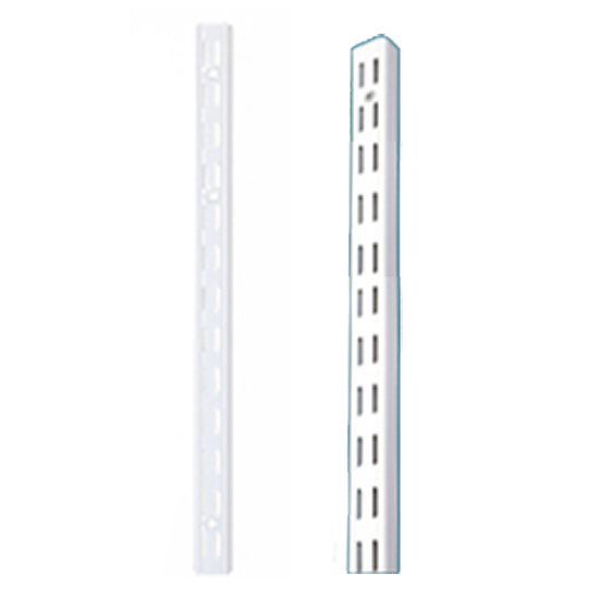 WE Preferred B01-61941-WH4 94in HD Premier Double Slotted Shelf Standard, White