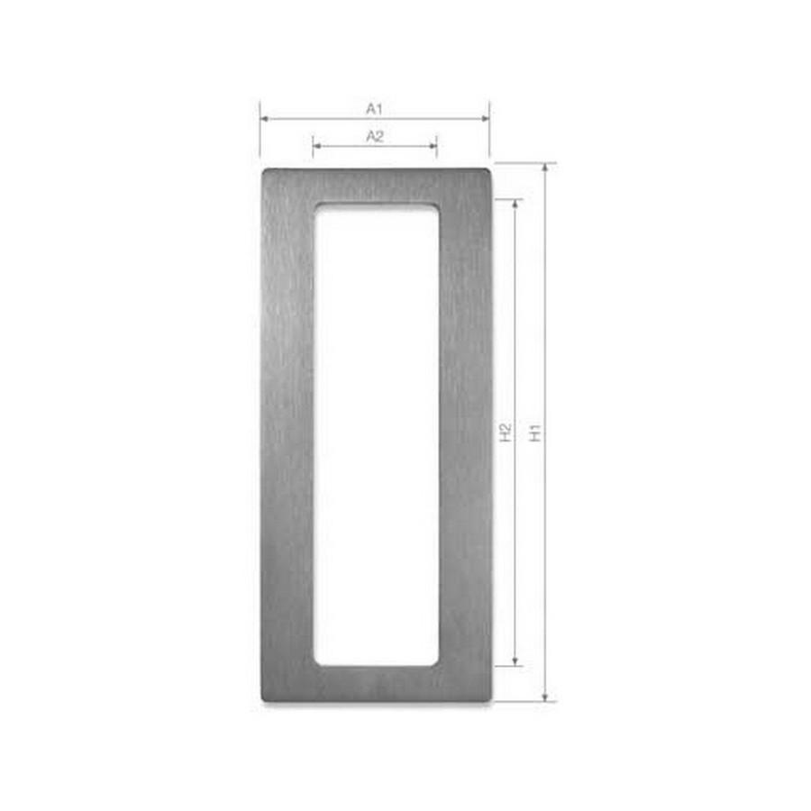 "DSI-4020 Sliding Door Pull 2-9/16"" W x 5-7/8"" H Satin Stainless Steel Sugatsune DSI-4020-150"