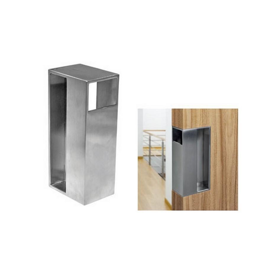 """DSI-4251 Pocket Door Pull 1-3/4"""" W Stain Stainless Steel Sugatsune DSI-4251-45"""