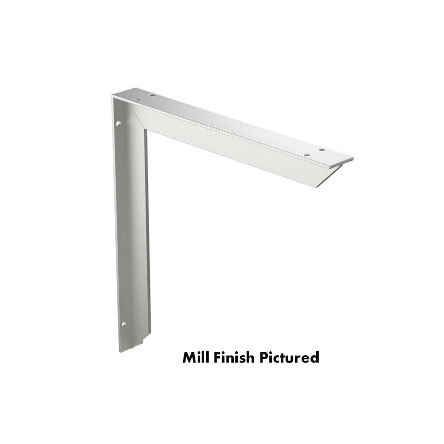 "Surface Mount Countertop Bracket 18"" x 18"" Mill Finish Rakks EH-1818"