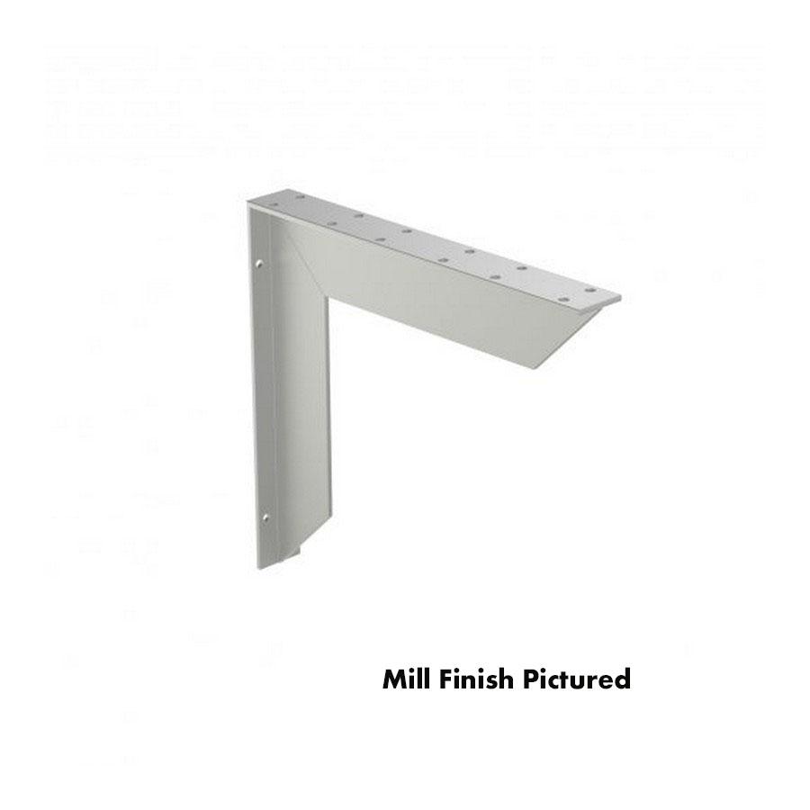 Surface Mount Bench Support Bracket Mill Finish Rakks EH-1416B