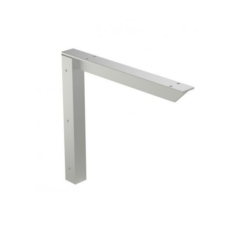 "EH-1212FM Flush Mount Countertop Support Bracket 12"" x 12"" Off White Rakks EH-1212FM-W"