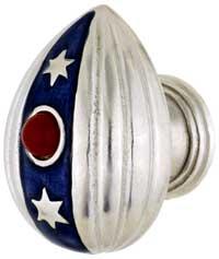 Emenee FAB1001-RS, Knob, Faberge Easter Egg Pendant, Royal Silver