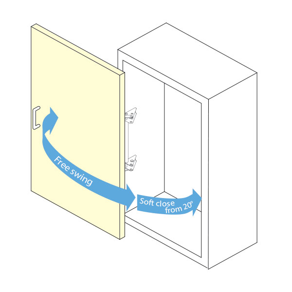 FAD-5 Lateral Opening Door System Light Weight Sugatsune FAD-5
