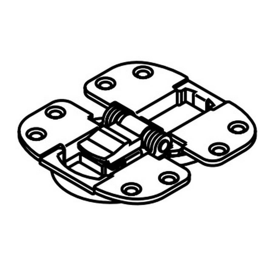 Recess Mount Center Hinge-Folding Doors Black Sugatsune FD30-CHH