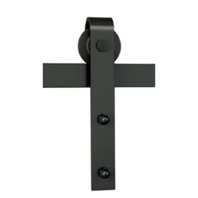 Barn Door Hardware Kit, Flat Rail, Face Mount, Black, WE Preferred 77214 51 005