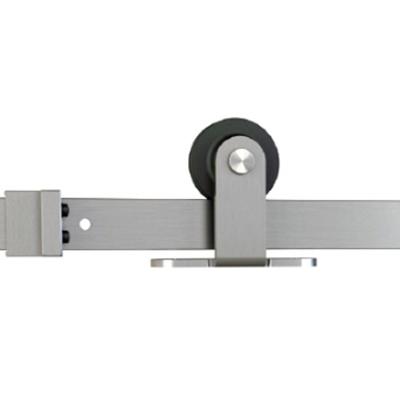 Barn Door Hardware Kit, Flat Rail, Top Mount, Stainless Steel, WE Preferred 77224 56 009