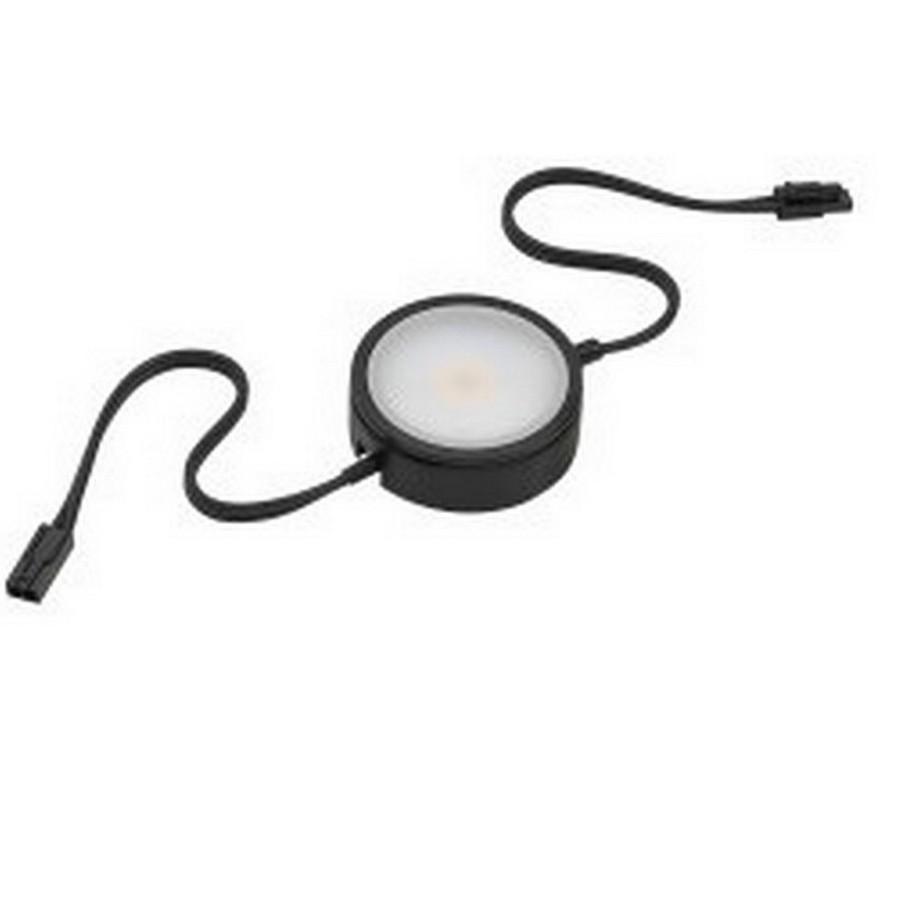 Pockit 120-M LED Puck Light Warm White Linkable Black Tresco L-MPOC-4W-120L-WBL-1