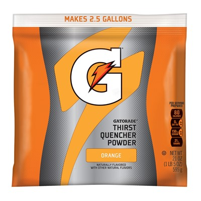 Northern Safety 14465 Gatorade Powder, 2.5 Gal, Orange