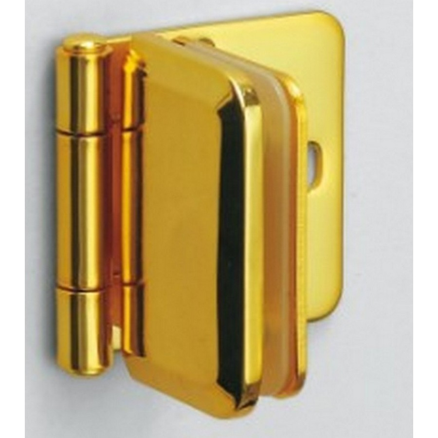 "Inset Glass Door Hinge 1-15/16"" L Gold Sugatsune XL-GH03-48-0GC"