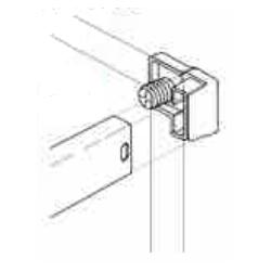 Grass 10mm Zargen Back Railing Clip, Dowel, White, 96719-42
