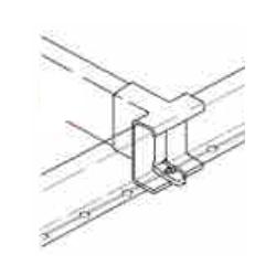 Zargen 6180-01 Divider Railing Clip White Grass F145096770111