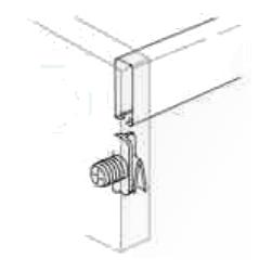 Grass 10mm Zargen Front Railing Clip, Dowel, White, 96360-39