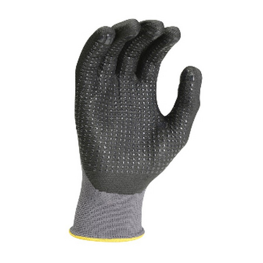 Foamflex Nitrile Dot Palm Coated Work Gloves L Gray Northern Safety 4695 L