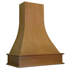 """Omega National 42"""" Wide Artisan Wall Hood with Liner for Broan, Cherry, R3042SMB1CUF1"""