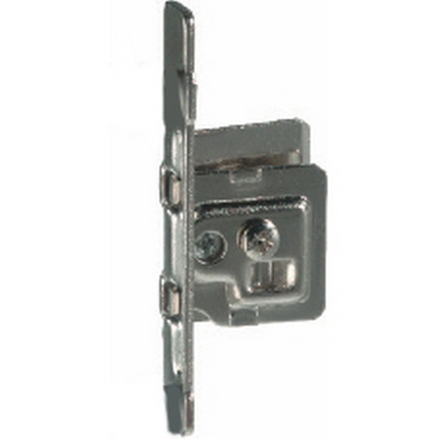 """Screw-on Integra Front Fixing Bracket Nickel RH for Drawer Heights 3-3/8"""", 4-5/8"""" and 5-7/8"""" Bulk 10 Grass 9205.R.VE10"""