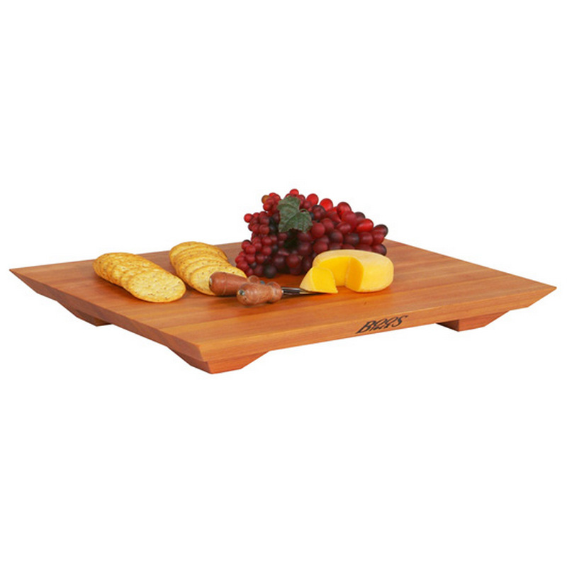 John Boos CHY-FB201501 20 L Cutting Board with Feet, Fusion Board Gift Collection, Cherry, 20 L x 15 W x 1in Thick