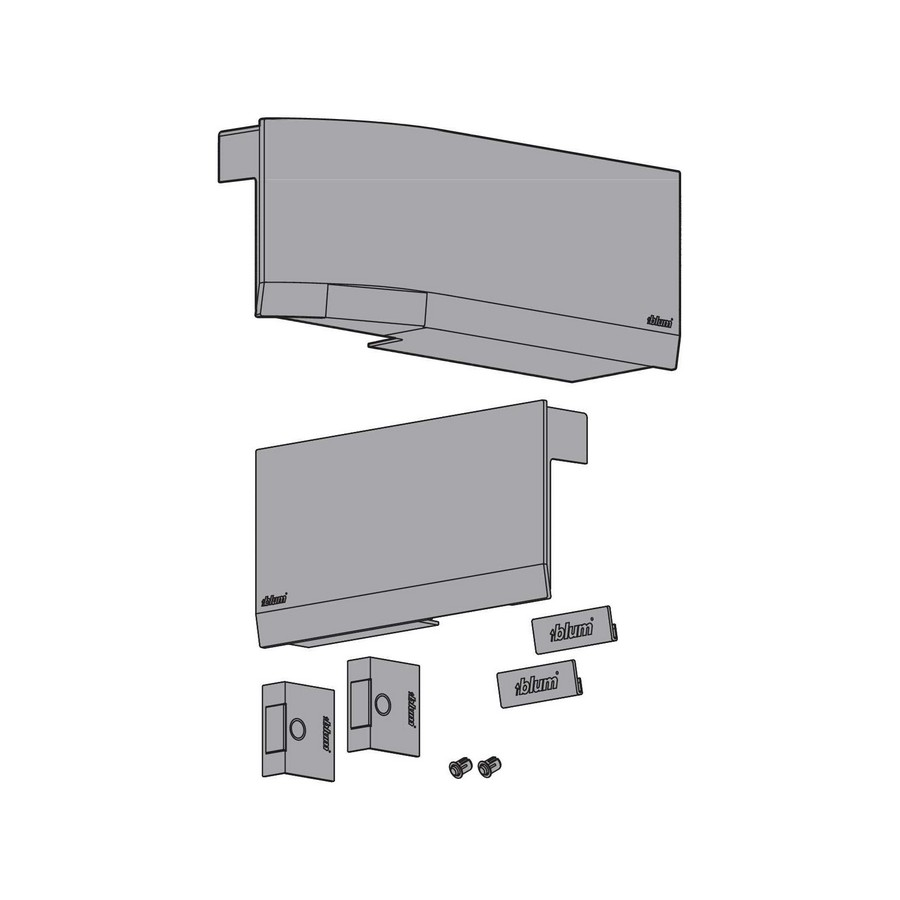 HK TOP COVER/SWITCH SET, LIGHT GREY
