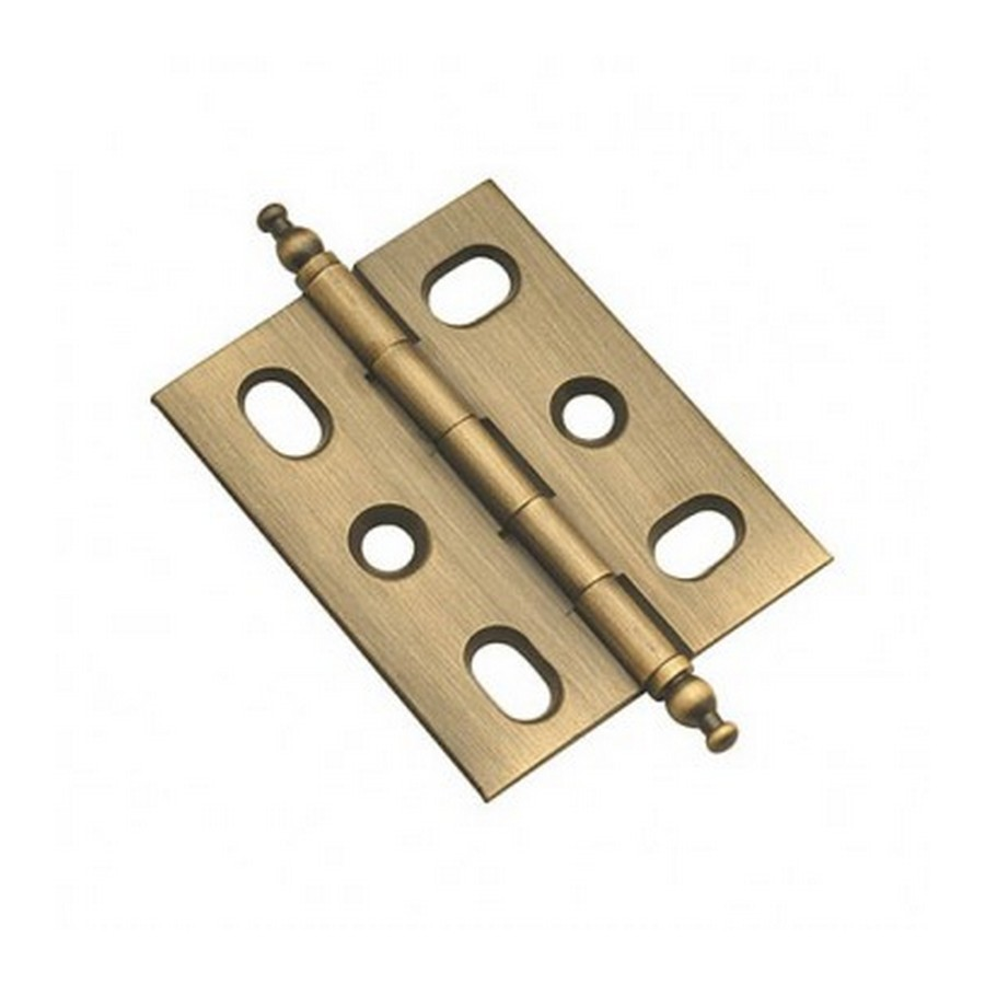 """Finial Tip Butt Hinge 2"""" L Antique Brass Belwith P8290-AB"""