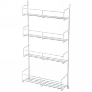 KV SR18-1-W, 13-13/16 Cabinet Door Spice Rack, KV Series, White Wire, 13-13/16 W x 3-7/8 D x 20 H, Knape and Vogt