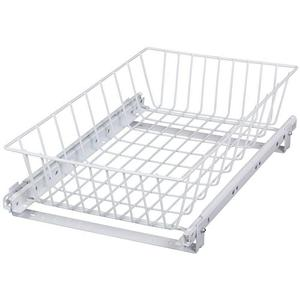 KV MU14-W, 15-1/8 Multi-Use Basket Pull-Out, KV Series, White, 15-1/8 W x 5-3/16 H x 18-3/4 D, Knape and Vogt