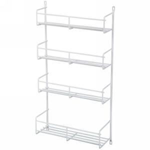 KV SR15-W, 10-13/16 Cabinet Door Spice Rack, KV Series, White Wire, 10-13/16 W x 3-7/8 D x 20 H, 5-Pack, Knape and Vogt
