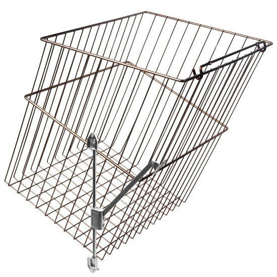 KV HS191613W-450FS, 16 W Tilt-Out Wire Hamper Basket, White, Knape and Vogt