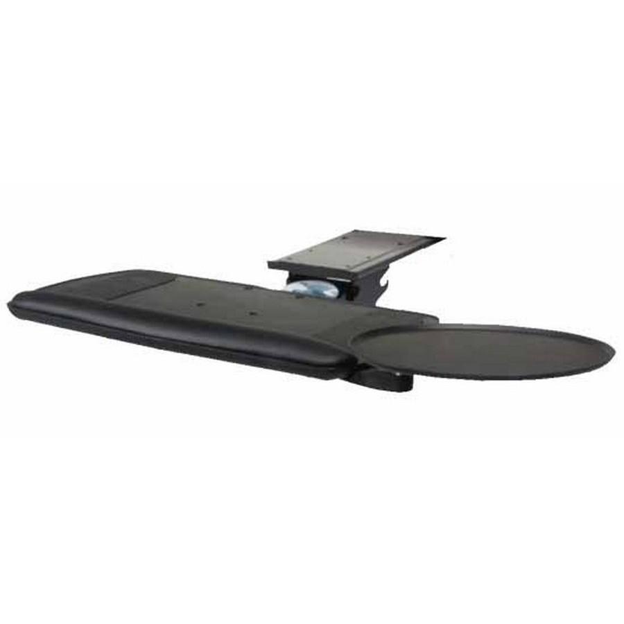 Keyboard Arm with Tilt and Swivel Mouse and Platform Black Knape and Vogt SD-00-18