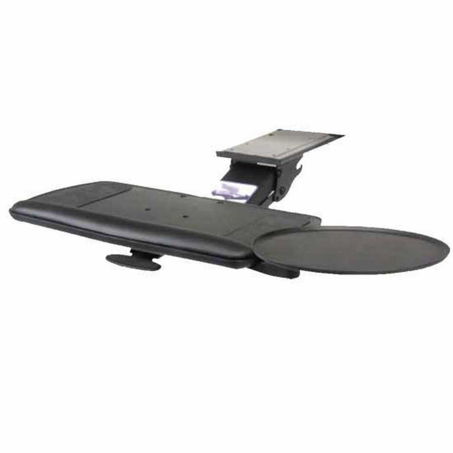 Keyboard Arm with Tilt and Swivel Mouse and Keyboard Platform Black Knape and Vogt SD-10-21