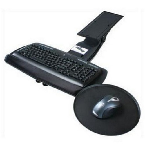 Keyboard Arm  with Tray and Swivel Mouse Pad Black Knape and Vogt SD-20