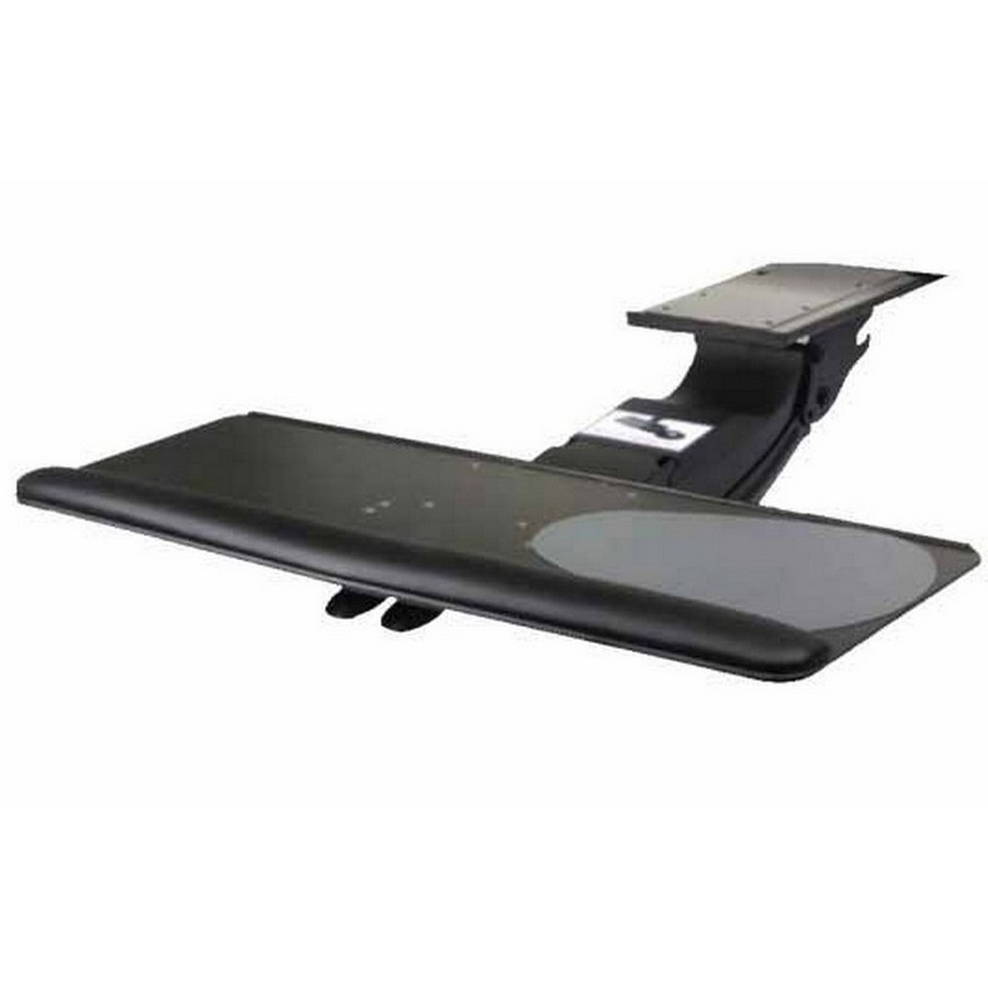 Keyboard Arm with Right/Left Slide-Out Mouse Platform Black Knape and Vogt SD-24-21