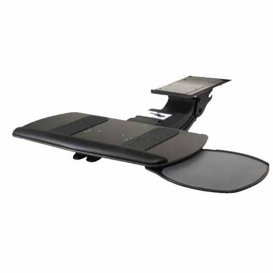 Keyboard Tray with Single Swivel Out Mouse and Keyboard Platform Black Knape and Vogt SD-25-21