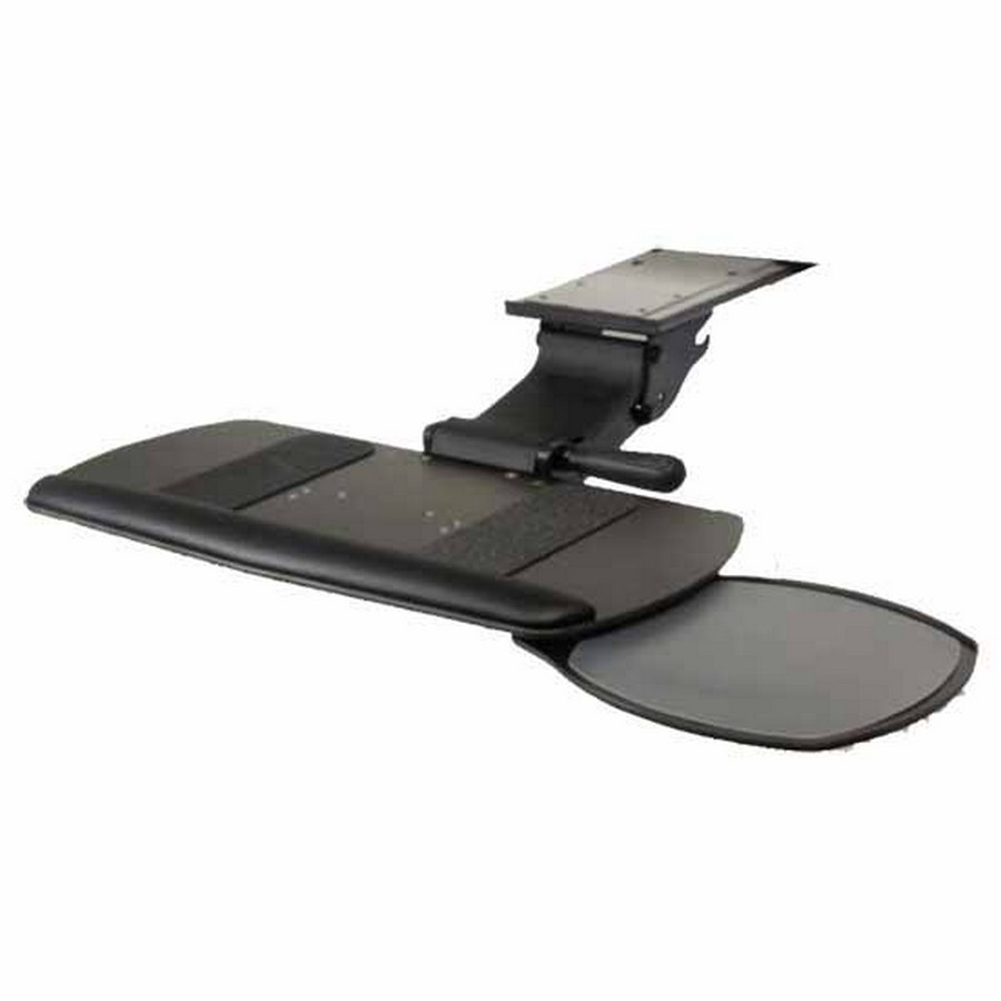 Ultimate Keyboard Tray System with Single Swivel-Out Mouse and Keyboard Platform Black Knape and Vogt SD-45-21