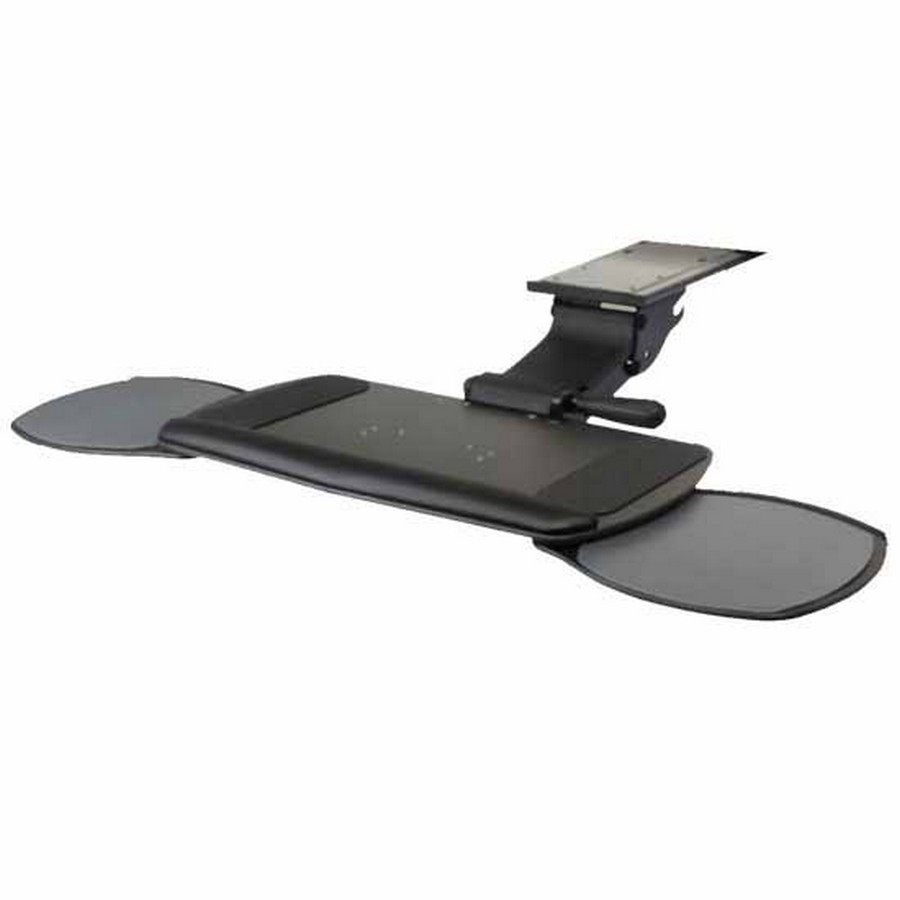 Ultimate Keyboard Tray System with Dual Swivel-Out Mouse and Keyboard Platform Black Knape and Vogt SD-46-21