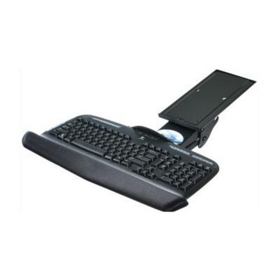 Keyboard Arm and Tray with Palm Rest Black Knape and Vogt SD-5