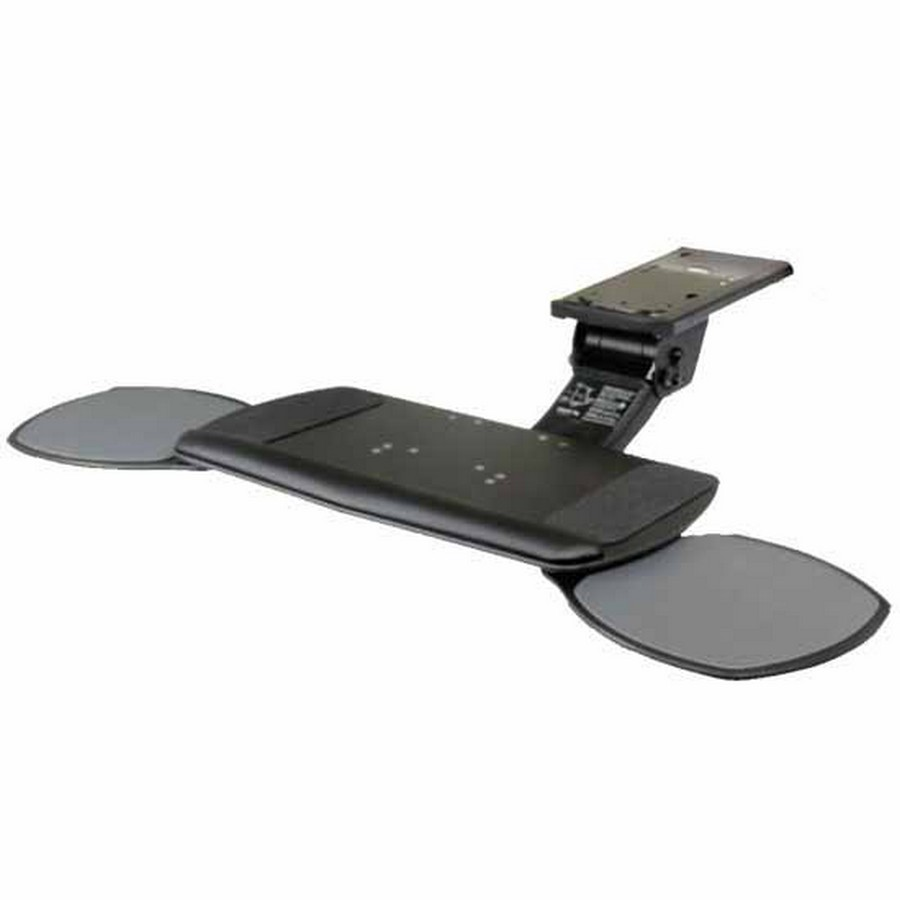 Ultimate Keyboard Arm with Dual Swivel-Out Mouse and Keyboard Platform Black Knape and Vogt SD-56-22
