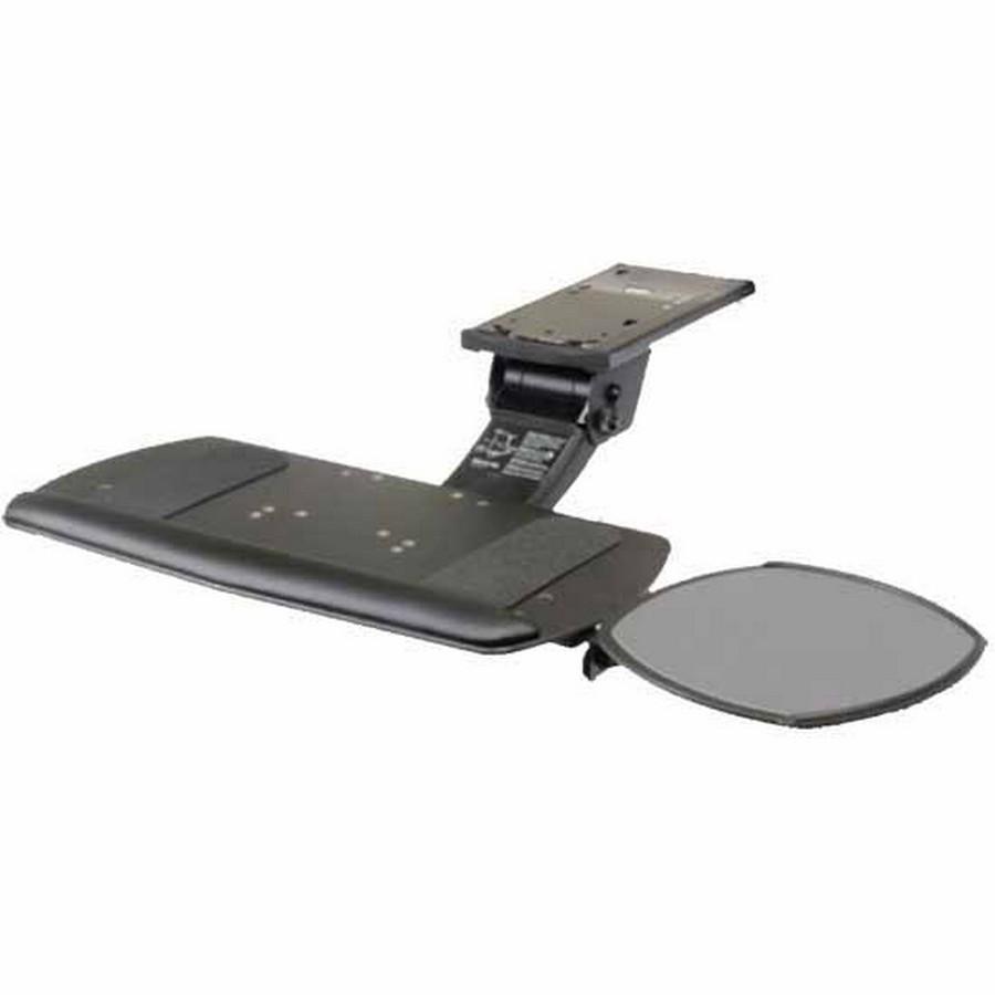 Ultimate Keyboard Arm with Tilt Adjustable Plug-In Mouse and keyboard Platform Black Knape and Vogt SD-58-22