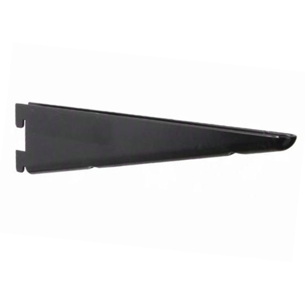 KV 182BP BLK 12.5, 12.5in 182 Series Double Slot Shelf Bracket, Black, Knape and Vogt