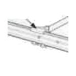 Grass Lateral File Clip, White, 30954-39