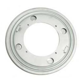 "Triangle 9C 9"" Round Zinc Plated Steel Swivel Bearing, 17"" - 35"" Turntable"