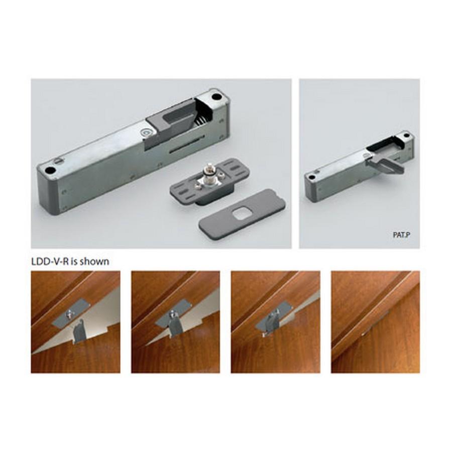 Lapcon Door Damper Right Hand Chrome Sugatsune LDD-V-R