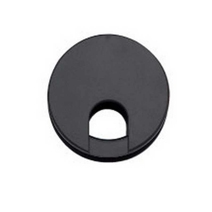 "LSU Double Sided Grommet 2-3/8"" Dia Black Sugatsune LSU60BL"
