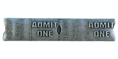 Emenee LU1240POL, Handle, Admit One, Polished Silver