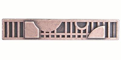 Emenee LU1248GUN, Handle, Mission Circle With Squares, Gun Metal