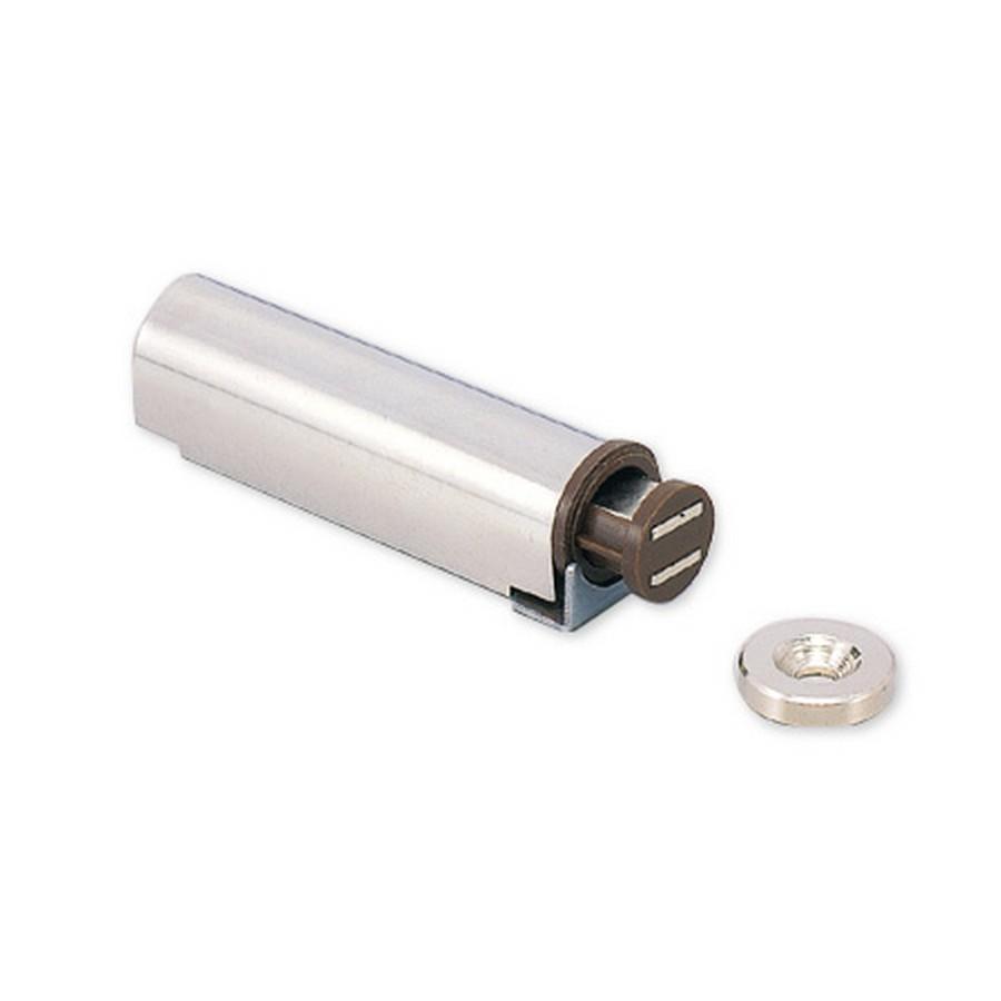 "Slide Magnetic Latch 2-3/8"" Long Nickel Sugatsune MC-S60"