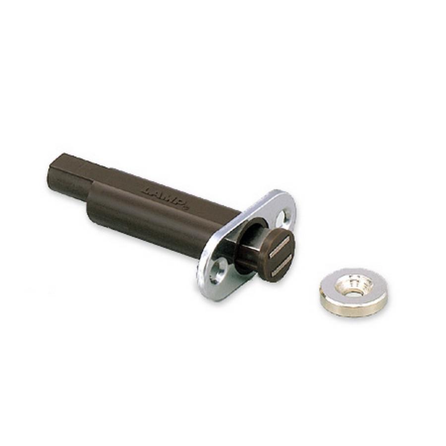 "Slide Magnetic Latch 2-3/8"" Long Brown Sugatsune MC-U60"