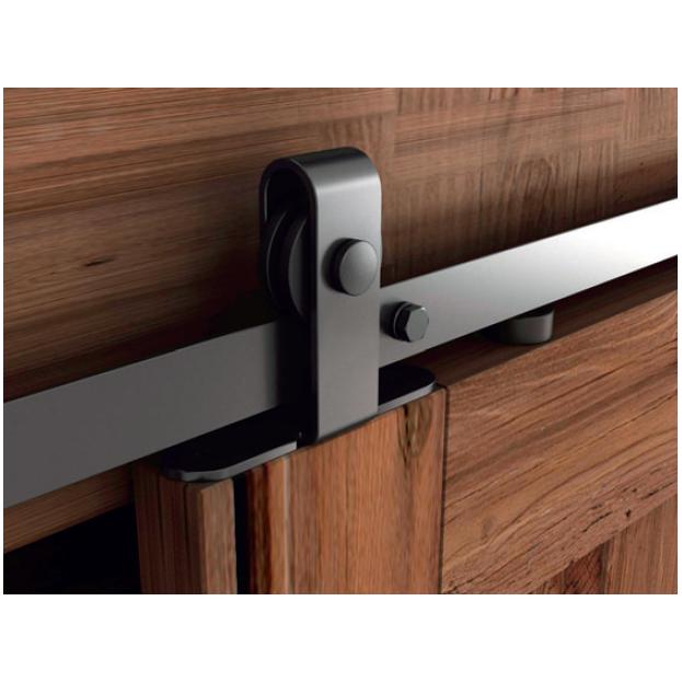 Barn Door Top Mount Roller for Mini Door, Black, WE Preferred 77229 51 135