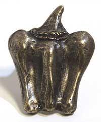 Emenee MK1005ABB, Knob, Pepper, Antique Bright Brass