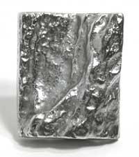 Emenee MK1060ABR, Knob, Block, Antique Matte Brass