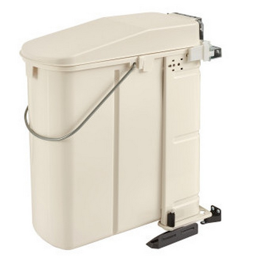 20 Liter Pivot-Out Waste Container White Rev-A-Shelf 8-700411-20